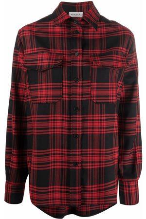 P.a.r.o.s.h. Senhora Camisas - Plaid-check shirt
