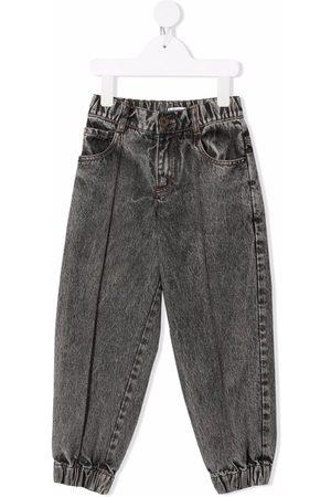 Brunello Cucinelli Kids Menina Retos - Acid-wash straight jeans