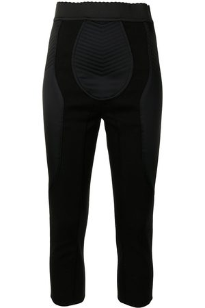 Dolce & Gabbana Senhora Calças - Panelled cropped leggings