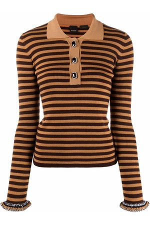 Pinko Senhora Formal - Stripe-print polo shirt
