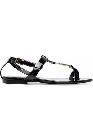Saint Laurent Senhora Sandálias - Cassandra logo sandals