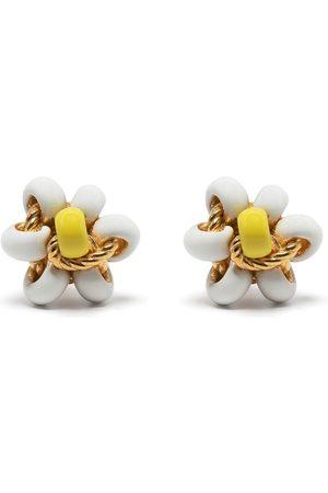 Bottega Veneta Senhora Brincos - Floral bead stud earrings