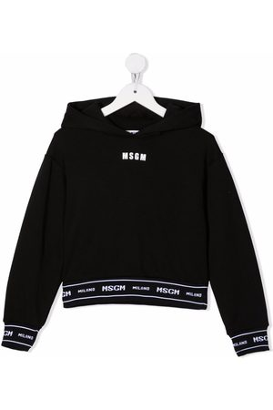 Msgm Menina Camisolas com capuz - Logo-trim hoodie