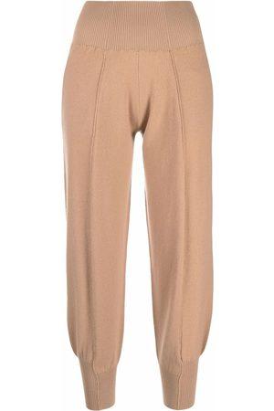 Stella McCartney Senhora Tapered wool-blend track pants