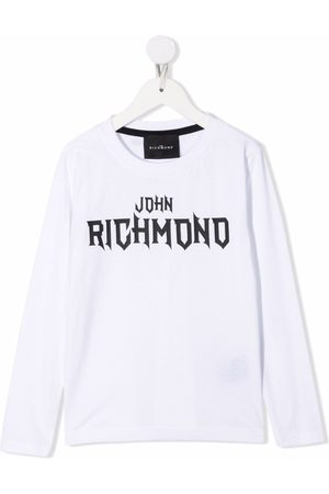 John Richmond Junior Menino Sweatshirts de Manga larga - Logo print long sleeved T-shirt