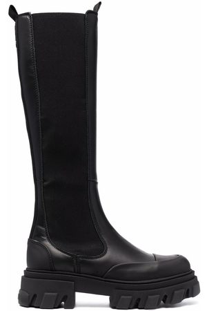 Ganni Senhora Botas de Cano Alto - Slip-on knee-high boots