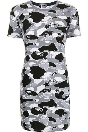A Bathing Ape Camouflage print jersey dress