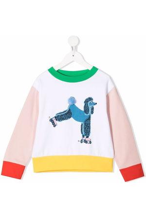 Stella McCartney Poodle-print colour-block sweatshirt