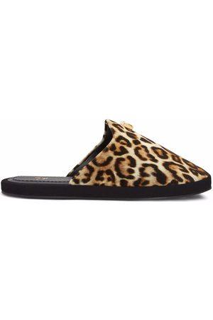 Giuseppe Zanotti Domitille leopard-print slippers