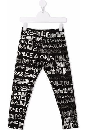 Dolce & Gabbana Doodle logo-print leggings