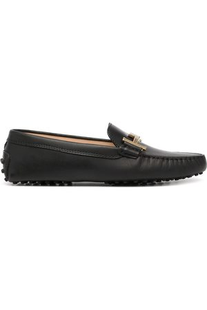 Tod's Logo-plaque polished-finish loafers