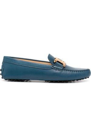 Tod's Senhora Oxford & Moccassins - Engraved-logo chain-link detail loafers