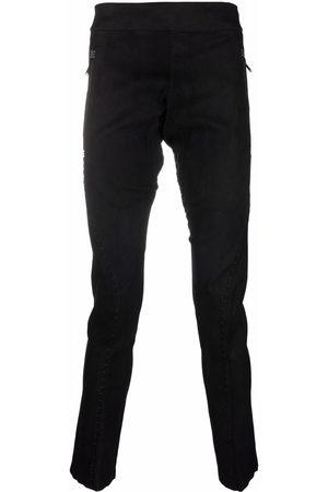 ISAAC SELLAM EXPERIENCE Slim-cut lambskin trousers