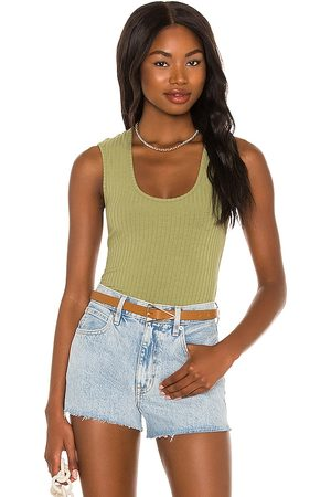 House of Harlow X Sofia Richie Christy Bodysuit in - Olive. Size L (also in XXS, XS, S, M, XL).