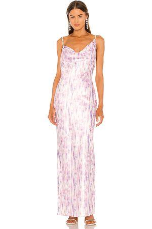 Michael Costello Senhora Vestidos Compridos - X REVOLVE Blaise Maxi Dress in - Purple,Pink. Size L (also in XXS, XS, S, M, XL).