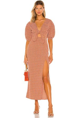 House of Harlow X Sofia Richie Vincenza Maxi Dress in - Rust. Size L (also in XXS, XS, S, M, XL).