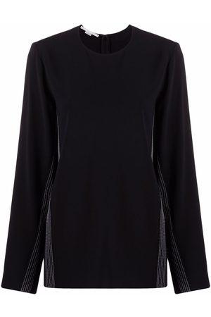 Stella McCartney Senhora Camisolas sem capuz - Contrast stripe sweatshirt