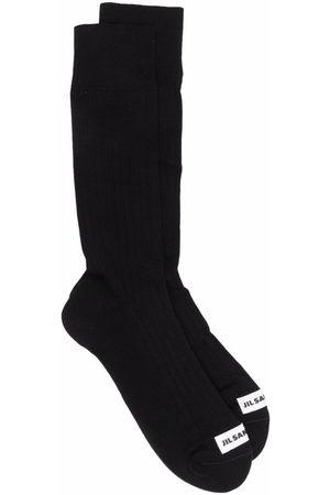 Jil Sander Homem Meias - Logo-patch socks