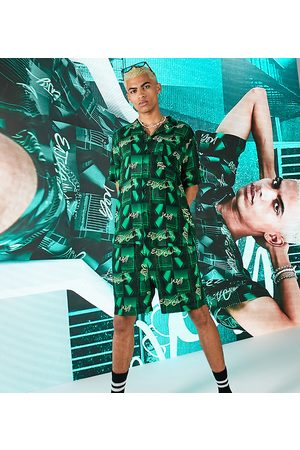 Collusion Short in photographic print co ord-Green