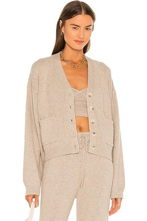JoosTricot Speckled Cardigan in - Beige. Size L (also in XS, S, M).