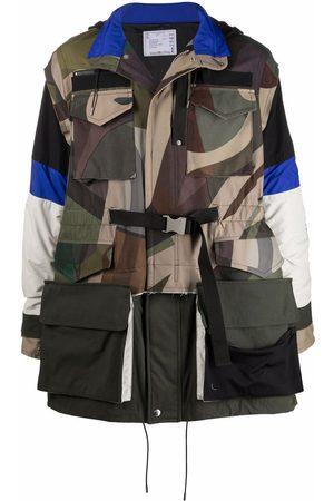SACAI Homem Parkas - Camouflage-print hooded coat