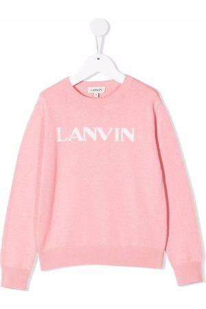Lanvin Menina Camisolas com capuz - Logo-print crew neck sweatshirt