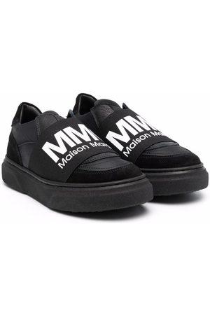 MM6 KIDS Logo print strap sneakers