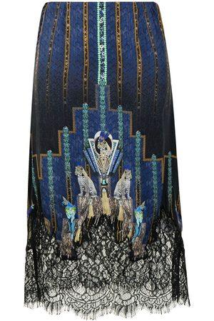 Camilla Senhora Saias - Dripping In Deco silk skirt