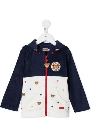 Miki House Menino Camisolas com capuz - Embroidered zip-up hoodie