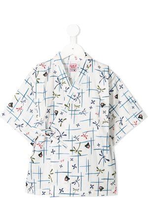 Miki House Printed kimono pyjamas