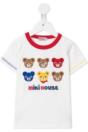 Miki House Menino T-shirts & Manga Curta - Patch-detail cotton T-shirt