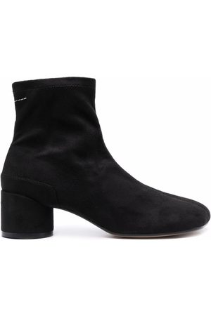 MM6 Maison Margiela Senhora Botins - Toe-shape suede ankle boots