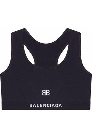 Balenciaga Senhora Soutiens de Desporto - Embroidered-motif sports bra