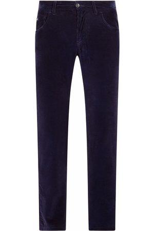 Dolce & Gabbana Homem Calças - Corduroy straight-leg trousers