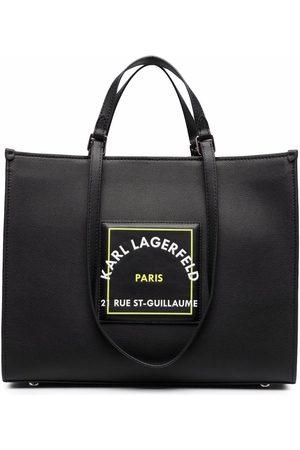Karl Lagerfeld Senhora Tops de Cavas - Logo top-handle tote