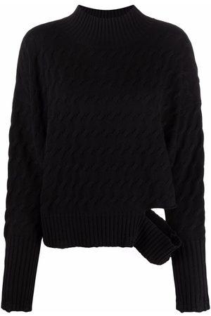 Pinko Senhora Camisolas sem capuz - Distressed-finish roll neck sweater