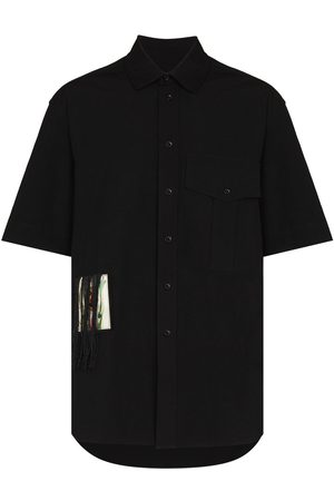 SONG FOR THE MUTE Fringed patch short-sleeve shirt