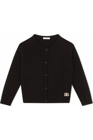 Dolce & Gabbana Menina Cardigans - Rhinestone logo cardigan