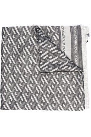 VERSACE Geometric-pattern silk-blend scarf