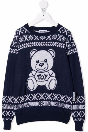 Moschino Menino Tops de Cavas - Teddy bear-motif wool jumper
