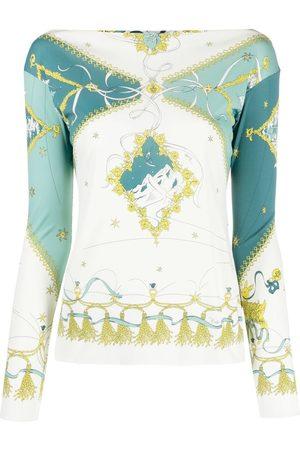 Emilio Pucci Senhora T-shirts & Manga Curta - Graphic-print T-shirt