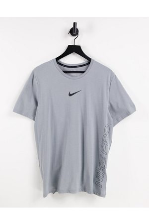 Nike Homem T-shirts desportivas - Nike Pro Training burnout t-shirt in grey