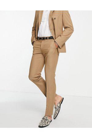 ASOS Homem Calças Justas - Slim suit trousers in camel-Neutral