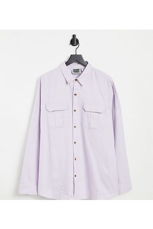 Reclaimed Homem Casual - Inspired relaxed overshirt in lilac-Purple