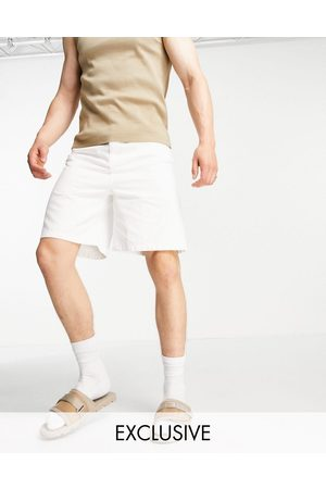 COLLUSION Homem Calções - Extreme 90s baggy shorts in white