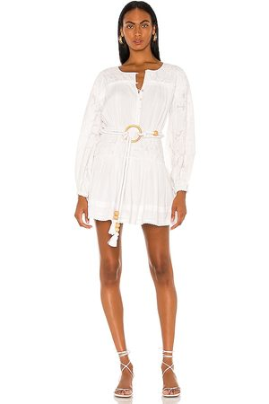 Tularosa Cierra Embroidered Dress in - White. Size M (also in XXS, XS, S, XL).