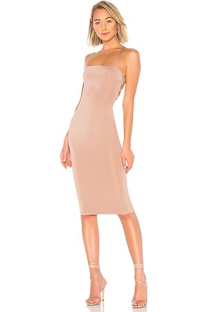 superdown Yvonne Laced Back Midi Dress in - . Size M (also in XS, S, XL).