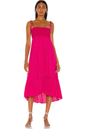 MAJORELLE Nola Maxi Dress in - Fuchsia. Size L (also in XXS, XS, S, M, XL).