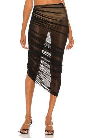 Norma Kamali Senhora Saias Compridas - Diana Long Skirt in - Black. Size L (also in XS, S, M).