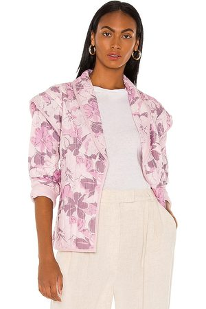 Tularosa Tate Quilted Jacket in - Purple. Size L (also in XXS, XS, S, M, XL).